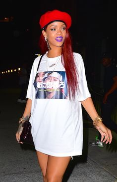 May 10: Rihanna leaving Lucky Strike Bowling Alley in NYC