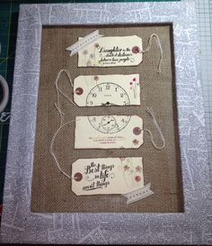 My love of tags continues. The frame is decoupaged with an old dictionary.