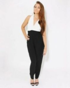 d73469a7e69 (eBay link) Love Crossover Jumpsuit Black White Size Medium Box43 48 B