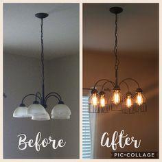 Master makeover a diy chandelier transformation house pinterest chandelier makeover aloadofball Gallery
