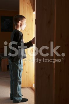 Light coming out from cupboard royalty-free stock photo