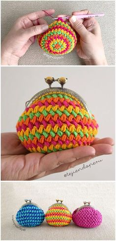 Bean stitch purse crochet tutorial-in Spanish but easy to watch.