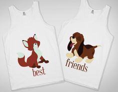 Fox and the Hound best friend shirts!! These are awesome!!! I don't know who would wear them with me!! I think I would want the Copper one but idk