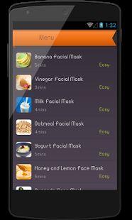 Easy Homemade Facial Masks- screenshot thumbnail