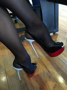 Wow Damm Gorgeous Hot Long Legs in high heels shoes Sexy Legs And Heels, Platform High Heels, Black High Heels, High Heel Boots, Pantyhose Heels, Stockings Heels, Pumps Heels, Stiletto Heels, Stilettos