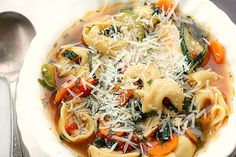 Italian Tortellini Soup You're going to love this easy and absolutely delicious soup! All the goodness of the garden makes up this flavorful soup.