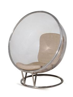 Bubble Chair with Linen Cushion by Kelly Hoppen Acrylic Chair, Acrylic Furniture, Cool Furniture, Contemporary Chairs, Modern Chairs, Metal Chairs, Cool Chairs, Kelly Hoppen Interiors, Bubble Chair