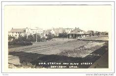 RP: C.N. Railroad Station & Alway Street , DAVIDSON , Saskatchewan , Canada , 1910s - Delcampe.com