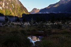 Tal zwischen Iris Burn Hut und Rocky Point Shelter