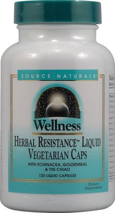 Wellness Herbal Resistance Source Naturals, Inc. 120 Caps >>> Check this awesome image  : Herbal Supplements
