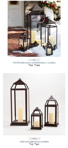 COPY CAT CHIC FIND | POTTERY BARN MALTA LANTERNS