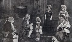 Louis XVI, Marie Antoinette and the royal family in a still from L'enfant Roi (1923)