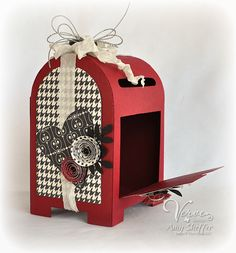 Pickled Paper Designs: cardmaking and papercrafting by Amy Sheffer 3d Paper Crafts, Fun Crafts, Paper Art, Valentine Box, Valentine Crafts, Diy Valentine's Mailbox, 3d Templates, 3d Craft, Scrapbooking