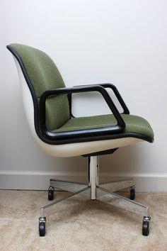 Pollock Style vintage AllSteel Chair in green BasementsHome fice