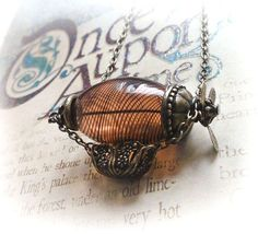 Zeppelin necklace, hot air balloon necklace, flying machine steampunk necklace, steampunk jewelry $29