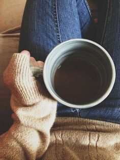 being cozy and having a cup of coffee on an autumn day. I Love Coffee, Coffee Break, My Coffee, Coffee Shop, Coffee Cups, Tea Cups, Morning Coffee, Coffee Mornings, Coffee Talk