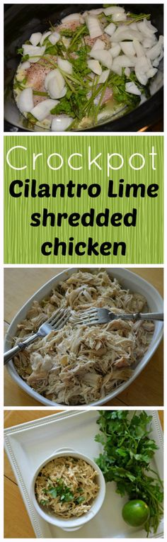 Completely Addictive! Crockpot Cilantro Lime shredded chicken. And the tricks to keep chicken moist. Delicious! | the House of Hendrix