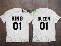 KING AND QUEEN UNISEX ADULT T-SHIRT Price: 15.50 #shirt Funny Shirt Sayings, Shirts With Sayings, Funny Shirts, Cute Graphic Tees, Graphic Shirts, Shirt Price, Workout Shirts, How To Look Better, King