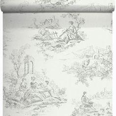 papier peint vinyle sur intiss toile jouy gris larg m leroy with papier peint chambre fille leroy merlin - Papier Peint Chambre Adulte Leroy Merlin