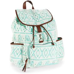 Stretch out the walk to class for as long as possible -- ya gotta flaunt our cool Crochet Backpack! It's designed with a zippered front pocket and two open sid…