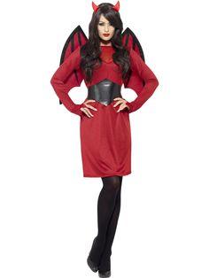 Piros színű női ördög jelmez, mely alkalmas Mikulás rendezvényeken (krampusz), Halloween bulikba, illetve farsangi rendezvényekre.