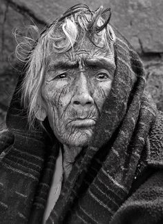 """by Lev Tsimring """"Maria is an old and poor Mexican woman whom I met on streets of Taxco, a small mountaneous town in southern Mexico"""""""