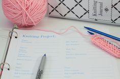Printable Knitting Binder Set -- Knitting Journal