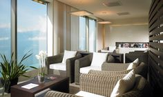 Waiting room with a view Waiting Rooms, Givenchy, Spa, Relax, Wellness, Curtains, Pure Products, Home Decor, Blinds