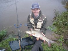 Barbel are a coarse fish found in fast flowing rivers.  This one is from the River Severn in England 2010