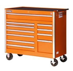 International VRB 4211OR 42 Inch 11 Drawer Orange Tool Cabinet With Heavy  Duty Ball Bearing Drawer Slides