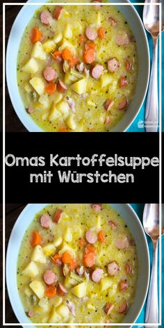 Omas Kartoffelsuppe mit Würstchen In the cold autumn and winter months, nothing beats a warming potato soup with vegetables and sausages. Just like grandma made the soup. Chicken Tenderloin Recipes, Chicken Soup Recipes, Quick Dinner Recipes, Healthy Chicken Recipes, Easy Healthy Recipes, Quick Easy Meals, Beef Recipes, Vegetarian Recipes, Healthy Slow Cooker