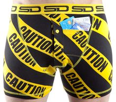 Caution SD Boxer Shorts - Front View