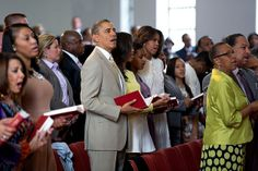 President Barack Obama, First Lady Michelle Obama, and daughters Malia and Sasha, attend Easter service at 19th Street Baptist Church in Washington, D.C., Sunday, April 20, 2014. (Official White House Photo by Pete Souza)