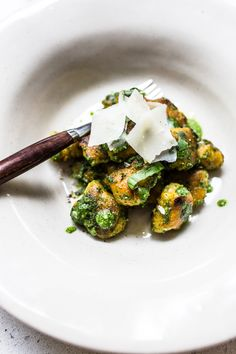 sweet potato gnocchi with wild garlic and sage pesto