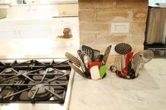 Utensil holders in the counters | Shannon's Soothing Mix of Styles
