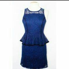 Brand New Blue Lace Dress