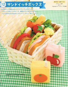 Kawaii Felt Food & Sweets Toy Patterns Japanese Craft Book