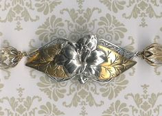 Garden Girl Collection Antique Silver Lily with by myjuliejewels, $24.95