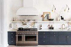 The Best Paint Color in Every Room of Athena Calderone's Brooklyn Home Classic Kitchen, Rustic Kitchen, New Kitchen, Kitchen Decor, Kitchen Ideas, Kitchen Hacks, Kitchen Layout, Island Kitchen, Kitchen Designs