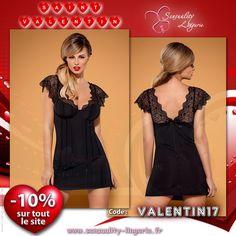 ✩★✩ Nuisette Aguicheur Traquenard Noir - Obsessive ✩★✩ Deux décolletés l'un devant, l'autre au dos, pour faire perdre les sens à votre partenaire !! Disponible ici ►http://www.sensuality-lingerie.fr/obsessive/4517-nuisette-aguicheur-traquenard-noir-obsessive.html #sensuality_lingerie #sensualité #lingerie #LingerieSexy  #Luxe #Charme #sexy #glamour #Dessous #femme #Coquine #Obsessive #SaintValentin