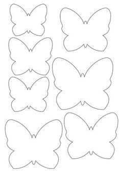 Butterfly template for applique pillow, for Payton's bed. Home Crafts, Diy And Crafts, Crafts For Kids, Paper Butterflies, Paper Flowers, Easter Crafts, Felt Crafts, Diy Papillon, Diys