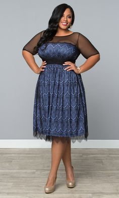 Check out the deal on Vintage Dream Cocktail Dress-Sale at Kiyonna Clothing Plus Size Lace Dress, Plus Size Formal Dresses, Plus Size Outfits, Plus Size Womens Clothing, Size Clothing, Plus Size Fashion, Clothes For Women, Prom Dresses 2015, Dresses For Sale