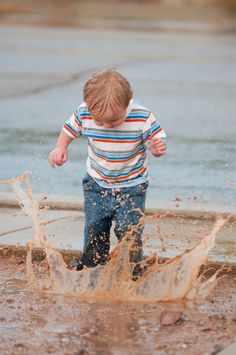 mud puddle jumping