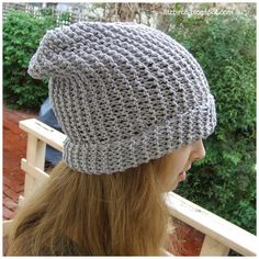 17993f9950f Super simple slouch beanie knitting pattern. Perfect for beginners and just  right for when the