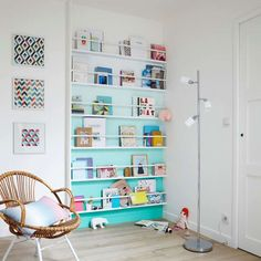 Creative Bookcase & DIY Bookshelf Ideas That Will Beautify Your Home Small Space Interior Design, Interior Design Living Room, Bookshelves, Bookcase, Kid Spaces, New Room, Kids Decor, Girl Room, Kids Bedroom