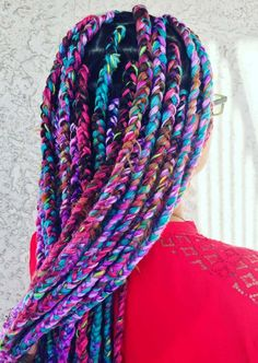 Rainbow Yarn Box Braids