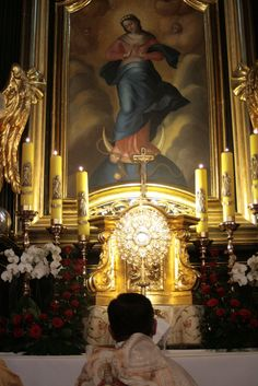 Adoration in Chapel of Mary Queen of Angels, Sanctuary of the Passion of Jesus Christ http://kalwaria.wkraj.pl/?EN#/56412/354