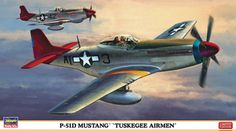 "Hasegawa 1:48 North American P-51 Plastic Model Airplane Kit HS09947 This North American P-51 D `Tuskegee Airmen` Plastic Model Airplane Kit comprises 118 pieces. This model kit made by Hasegawa requires assembly and is 1:48 scale (approx. 23cm / 9.1in wingspan).  Composed primarily of pilots from the celebrated Tuskegee Airmen, the 332nd Fighter Group had one of WWII's most impressive combat records. The Allies gave them the nickname, ""Red-Tail Angels,"" because the tails on their P-51…"