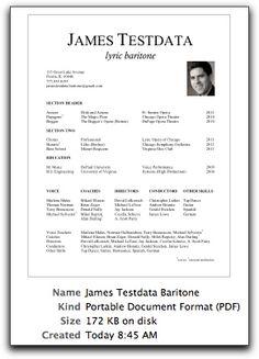 Singer Resume Example Resumecompanion Com Resume Samples