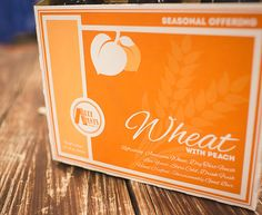 Our summer Wheat with Peach is a Berlinner Weisse created with a sour mash fermentation utilizing lactobacillus to create a tart and dry finish.  A two day brewing process, we take the soured wort, boil it, and ferment it with a clean American ale yeast.  2000 pounds of fresh fruit peach puree are added to the fermenter resulting in a hint of peach to complement the tart flavors.
